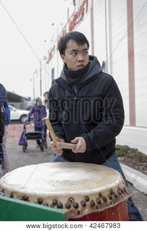 Asian Drummer.
