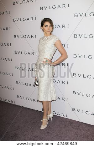 LOS ANGELES - FEB 19:  Clotilde Courau arrives at the BVLGARI Celebrates Elizabeth Taylor's Jewelry Collection at the BVLGARI on February 19, 2013 in Beverly Hills, CA