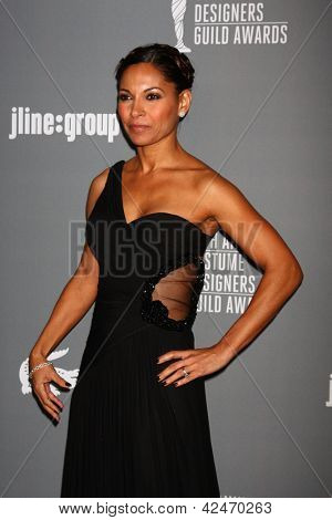 LOS ANGELES - FEB 19:  Salli Richardson-Whitfield arrives at the 15th Annual Costume Designers Guild Awards at the Beverly HIlton Hotel on February 19, 2013 in Beverly Hills, CA