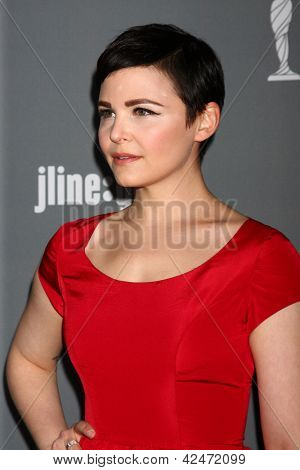 LOS ANGELES - FEB 19:  Ginnifer Goodwin arrives at the 15th Annual Costume Designers Guild Awards at the Beverly HIlton Hotel on February 19, 2013 in Beverly Hills, CA
