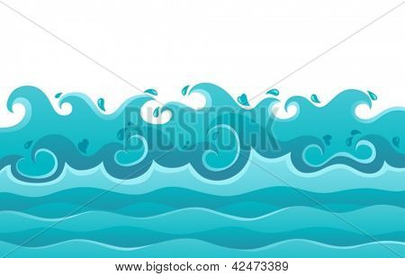 Wellen Thema Bild 6 - Vektor-Illustration.