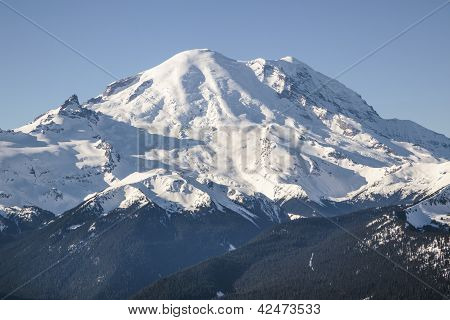 Mount Rainier in winter white