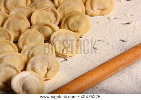 Making Of Ravioli Manti