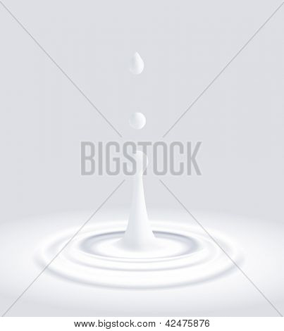 vector background with falling drops