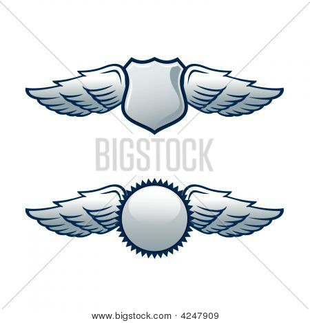 Shields With Wings