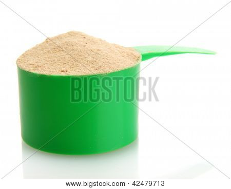 nutritional supplement for athletes in the form of protein drinks, isolated on white