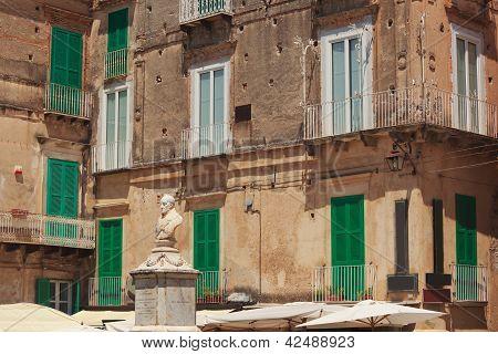 Monumento Of Pasquale Galluppi In Tropea