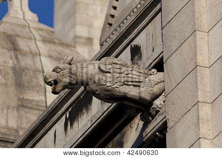 Gargoyle In The Sacre Coeur, Montmarte, Paris, France