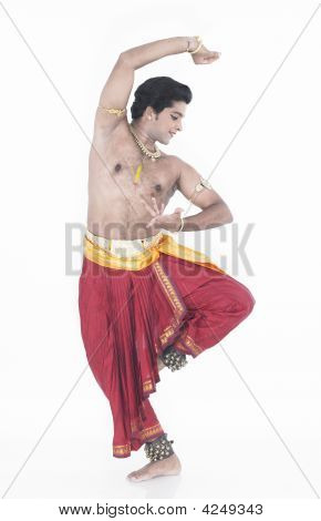 Bharathanatyam Dancer Of Tamil Nadu In India