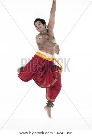 Dancer Of Tamil Nadu Jumping In The Air