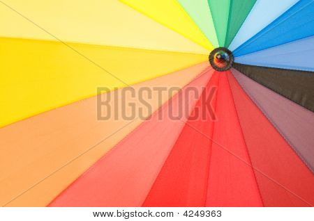Close Up Of Multi Sector Colourful Umbrella