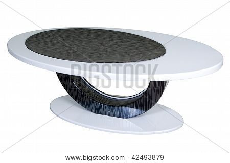 White With Black Coffee Table Isolated On White