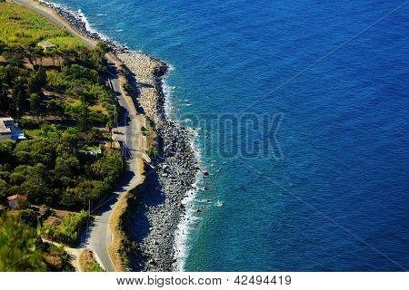 Rural Road Near The Sea