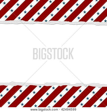 Red Stripes With Blue Stars Background For Your Message Or Invitation