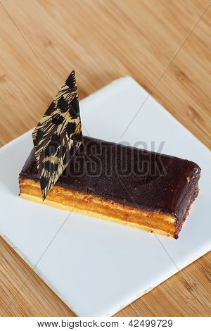 Sponge Cake With Chocolate Cover