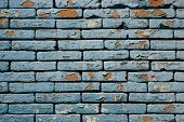 stock photo of hairline  - Detail and pattern of cracked grunge bricks wall - JPG