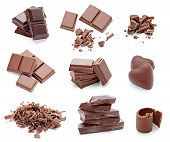 foto of crack addiction  - collection of various chocolates on white background - JPG