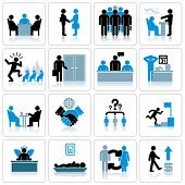 Business Management and Human Resources Icon Set. Vector Graphics