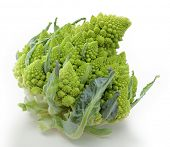 foto of romanesco  - Romanesco cauliflower over a white background - JPG