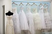 ZAGREB, CROATIA - FEBRUARY 9: Wedding dresses presented on a fashion exhibition 'Wedding expo', on F