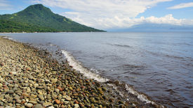 picture of camiguin  - Picturesque sea landscape with island - JPG