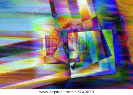 Square Shapes Spectral Background