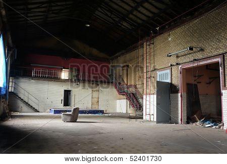 an abandoned disused factory