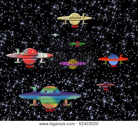 The Hostile Military Space Fleet Of A Planet Nibiru Comes  To Earth.