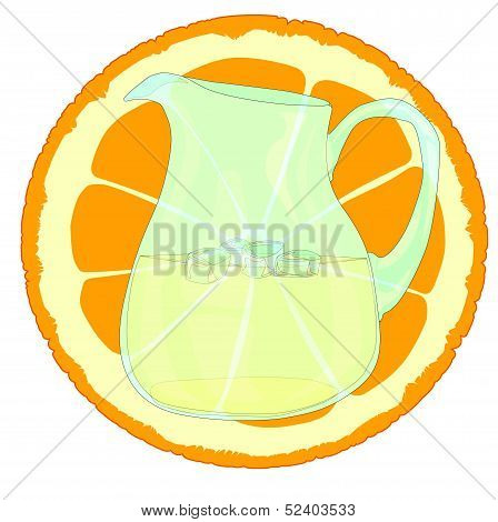 Orangeade With Slice.