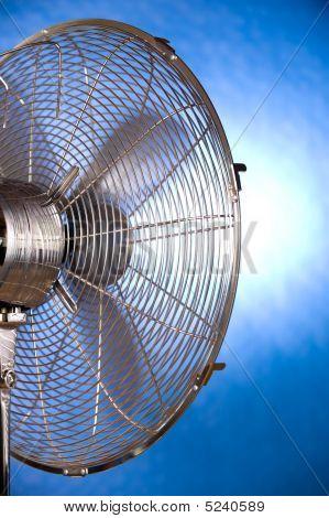 Retrato de ventilador funcionando