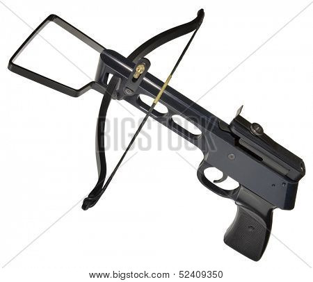 Metallic Crossbow Isolated with Clipping Path