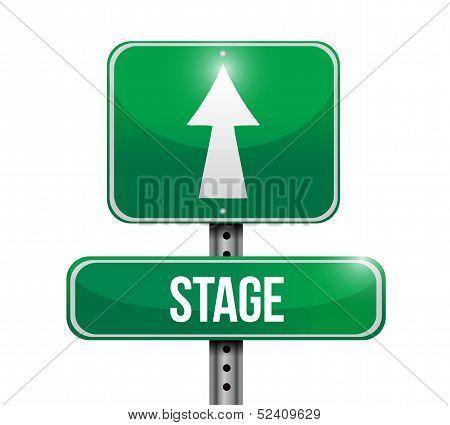 Stage Road Sign Illustrations Design