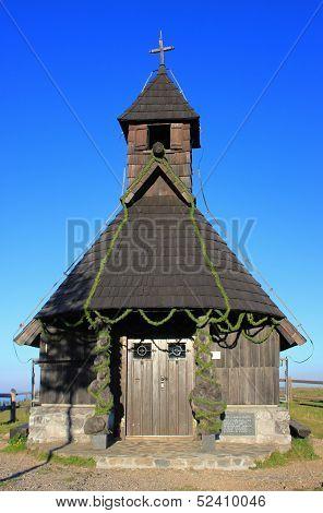 Wooden Alpine Chapel, Velika Planina, Slovenia