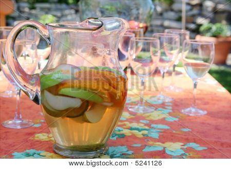 Pitcher Of Refreshing White Sangria