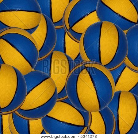 Yellow and blue balls
