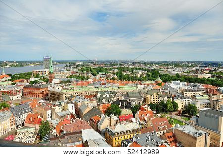 Panorama Of Riga, Latvia