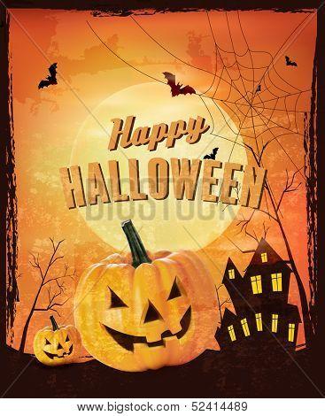 Retro Halloween background Vector