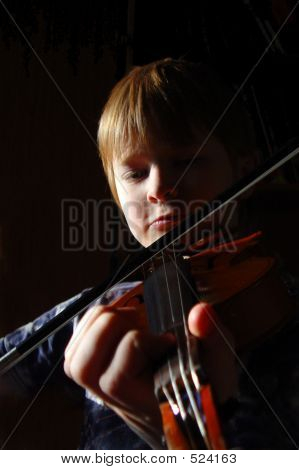 Young Red-haired Violinist