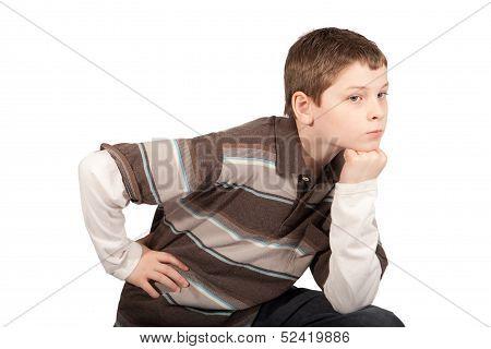 Pouting Young Boy