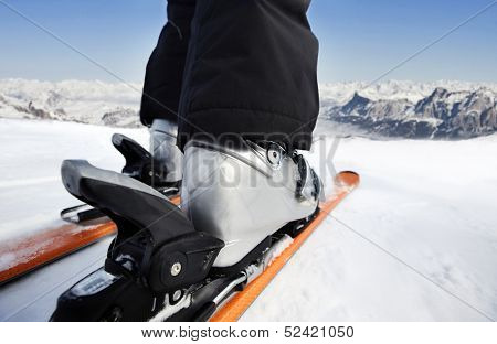Skiing downhill