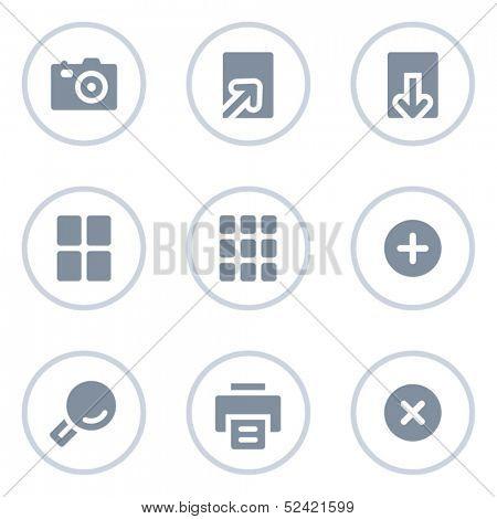 Image viewer web icons, circle line series
