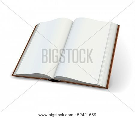 Blank pages of open books spread isolated on white background - eps10 vector illustration