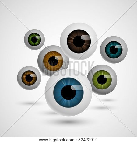 Prying eyes, eps10 vector