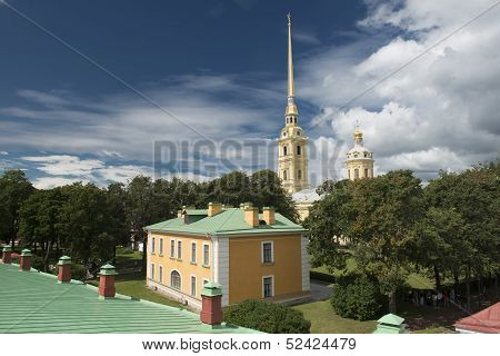 Peter And Paul Cathedral In Sankt Petersburg