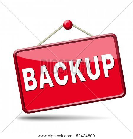 Backup data and software on copy in the cloud on a hard drive disk on a computer or server for flie security Extra storage and archive copy.