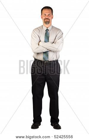 Corporate Man Standing Strong