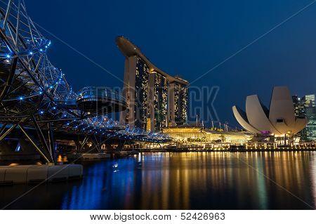 Helix Bridge Leading Up to Marina Bay Sands