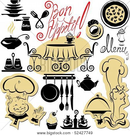 Set Of Cooking Symbols