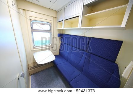 TVER - JUN 05: Passenger space in the car with improved interior, on June 05, 2013 in Tver, Russia.