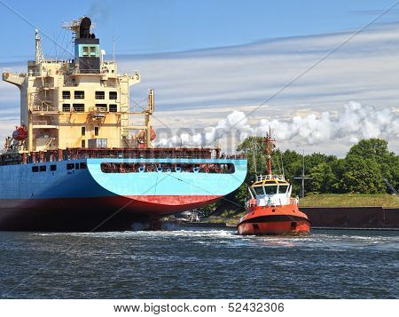 Tugboat Towing Ship